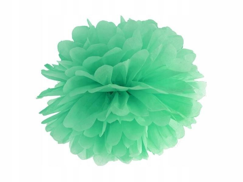 Pompon bibułowy kolor miętowy 25cm 100 szt