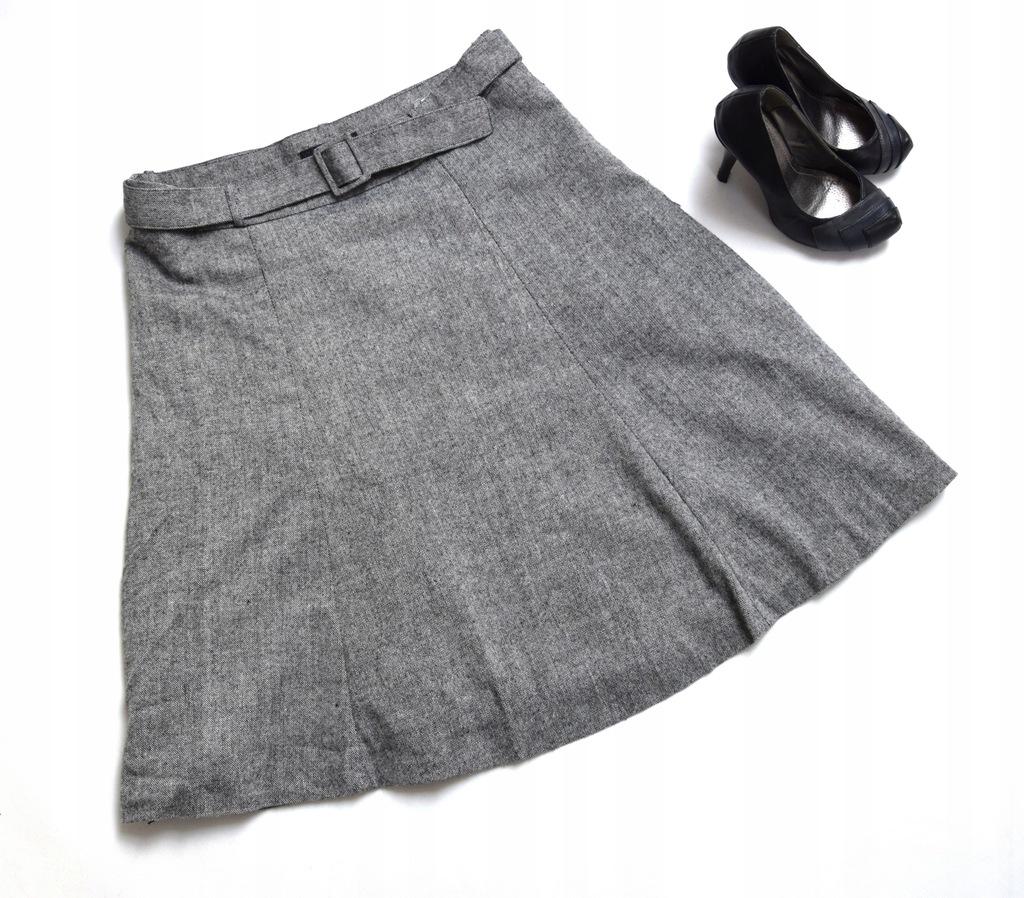 Rozszerzana spódnica h m bezowy elastyczne w Domodi