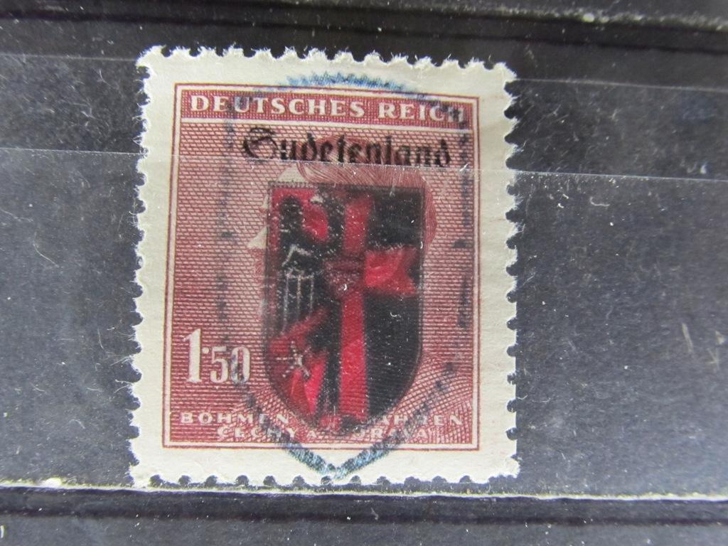 Protektorat znaczek z nadrukiem Sudetenland (5/11)