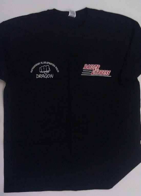 Dragon t-shirt -  męski rozmiar XL czarny