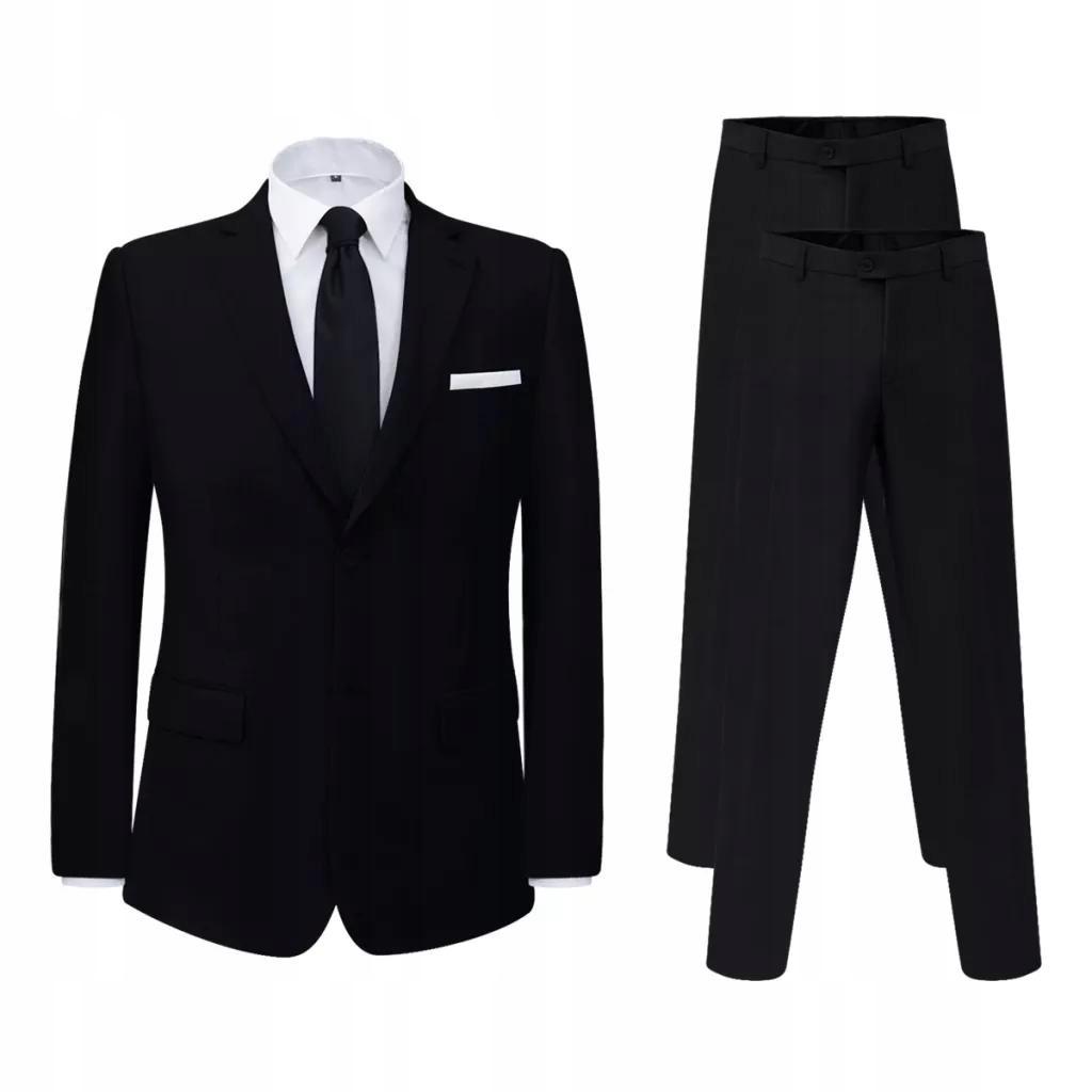 Garnitur z dodatkowymi spodniami czarny rozm. 46