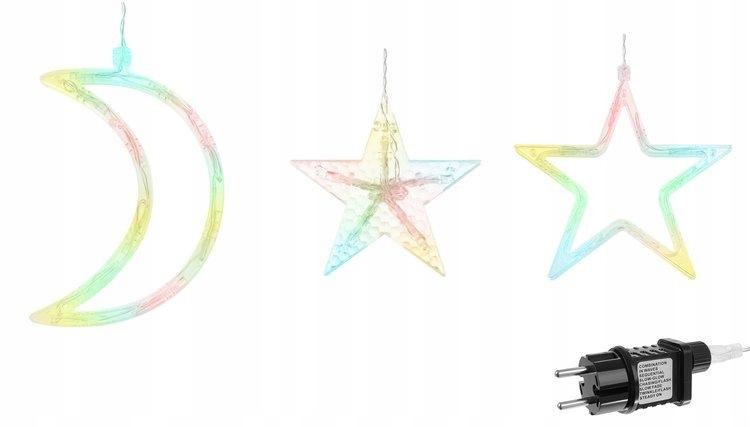Kurtyna świetlna 138LED - multicolor 31V KŚ11328