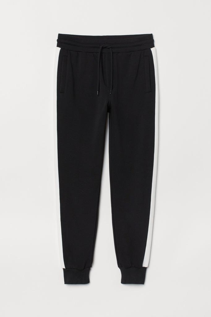 Joggersy z lampasami Spodnie dresowe H&M M