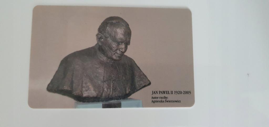 Karta kolekcjonerska BILET MIESIĘCZNY JAN PAWEŁ II