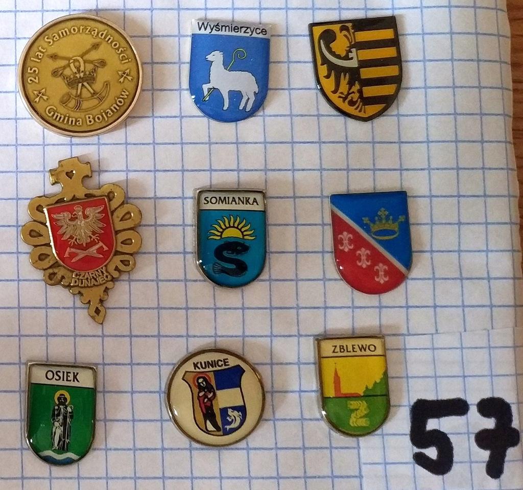 Zestaw odznak herb gmina powiat mix heraldyka 57