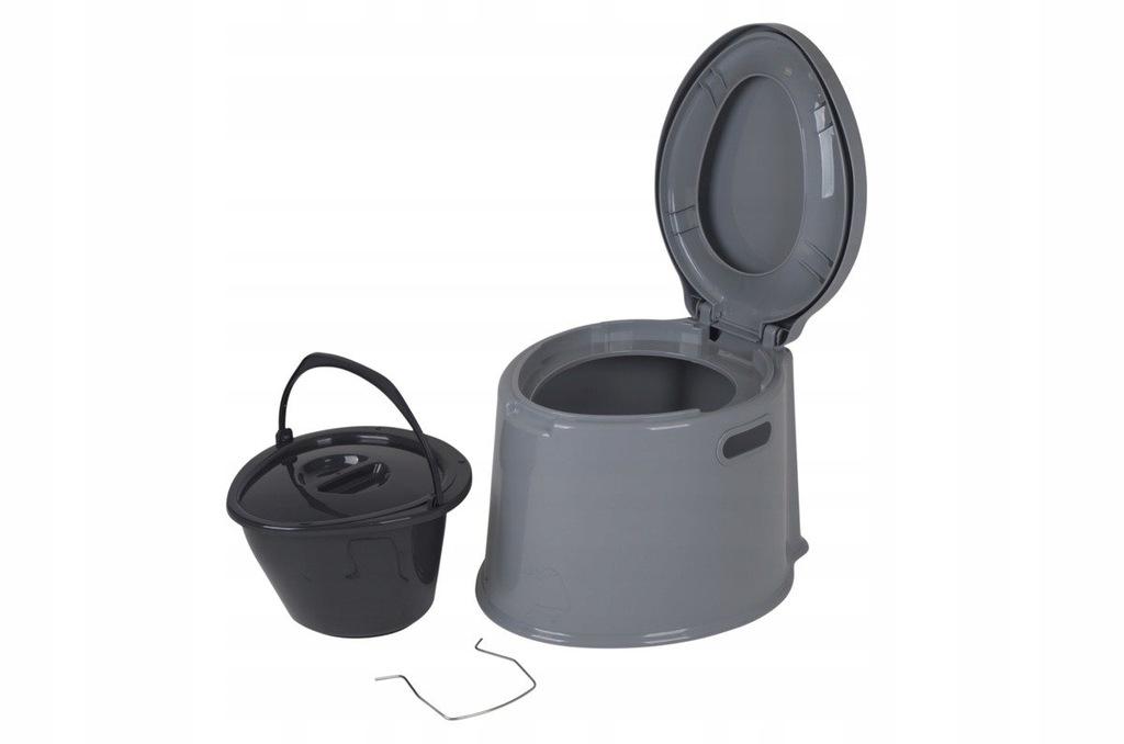 Toaleta przenośna szara