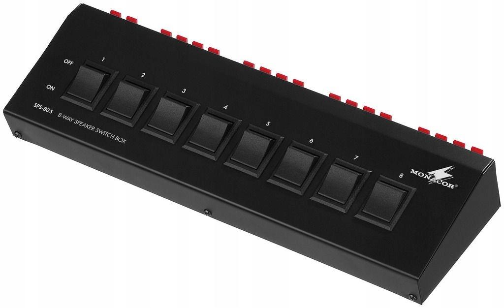 MONACOR SPS-80S - Listwa włączników głośnikowych