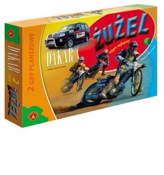 Żużel / Dakar 2 gry planszowe
