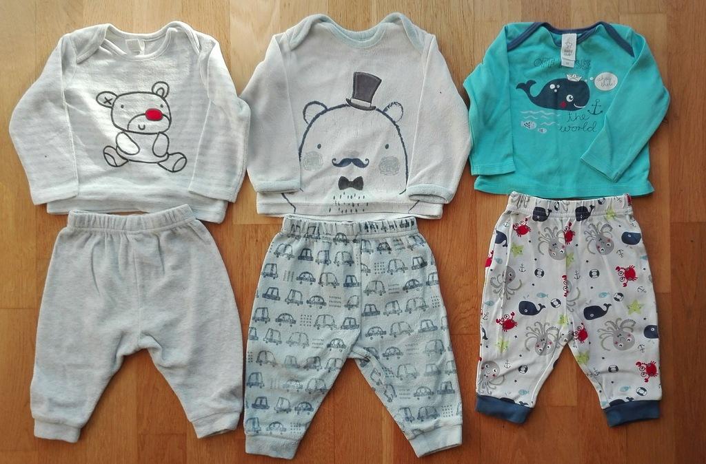 Piżama niemowlęca C&A 68 3 szt.