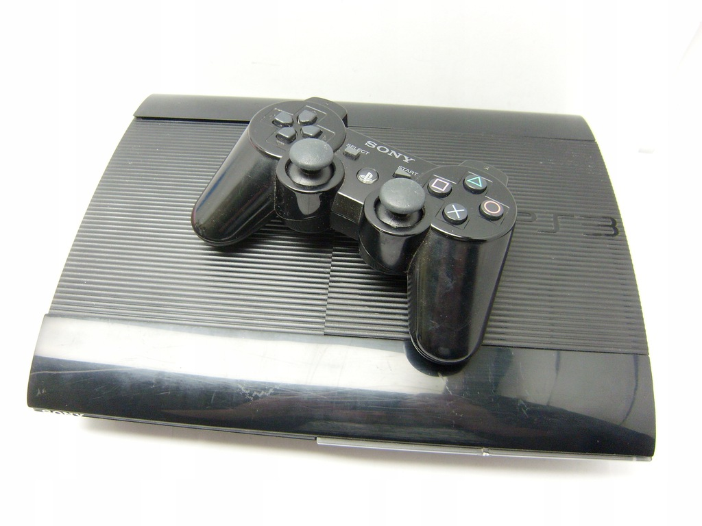 Konsola Sony PS3 Super Slim 500GB + pad + gry