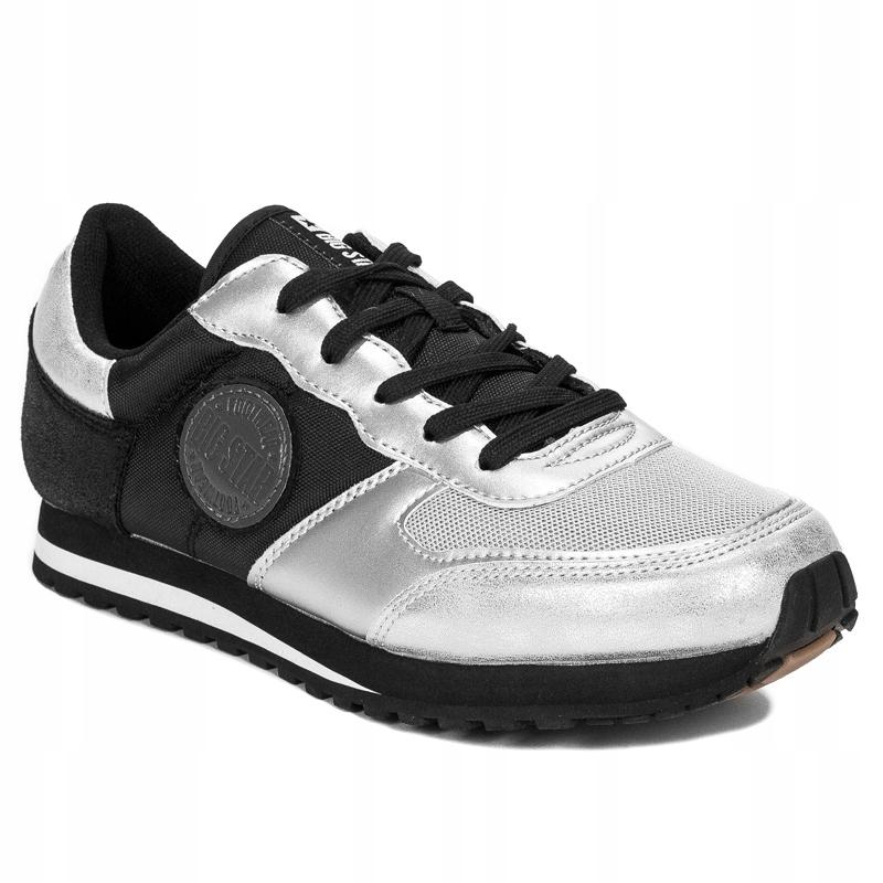 Sneakersy Big Star DD274542 Srebrno Czarne r.41