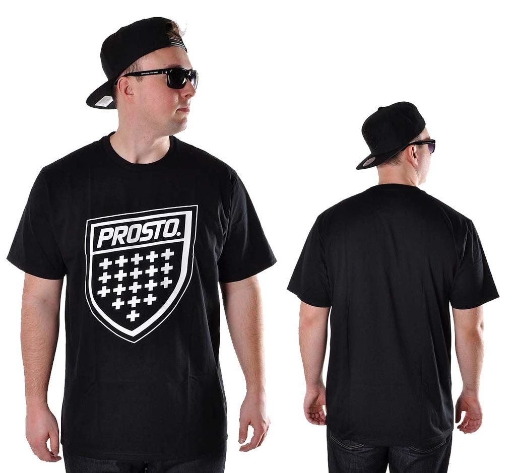 Koszulka XXL Prosto Klasyk SHIELD XX czarn t-shirt