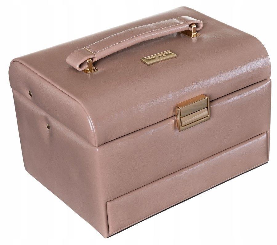 Elegancka, prostokątna szkatułka na biżuterię
