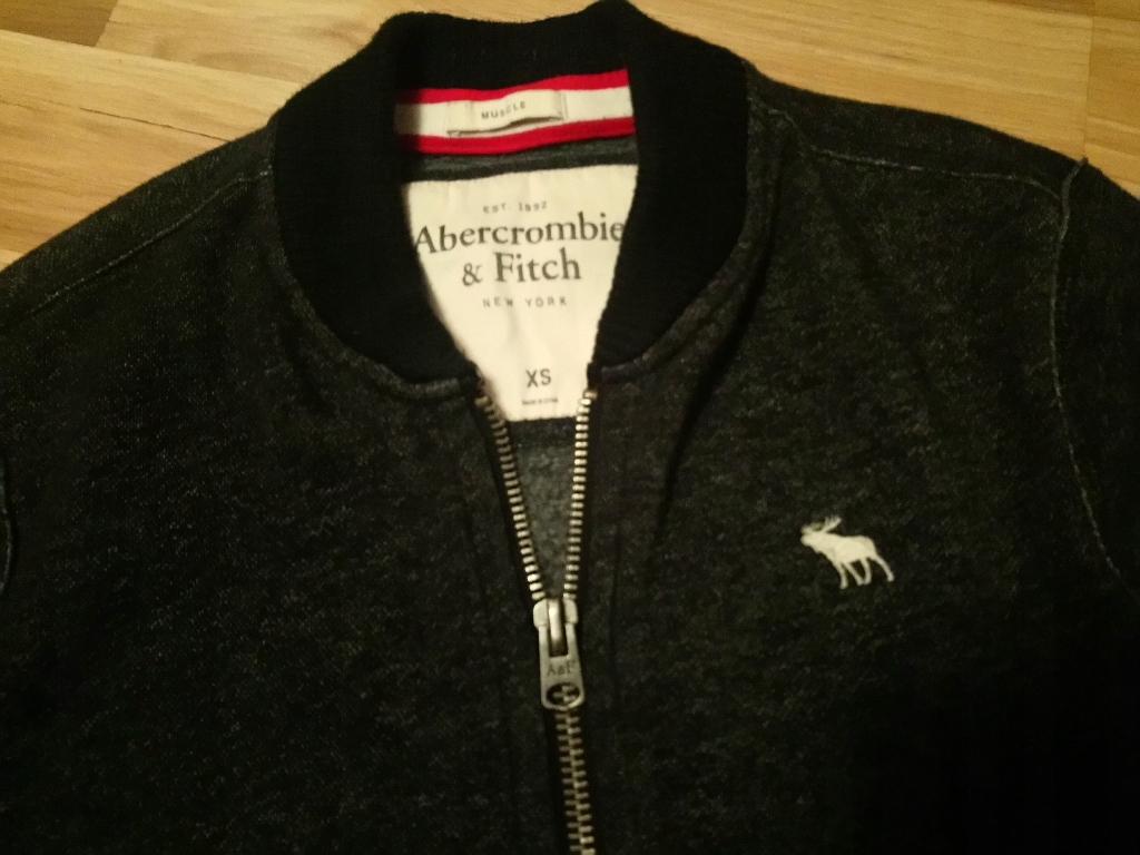 Abercrombie&Fitch bluza bejsbolówka S jak nowa