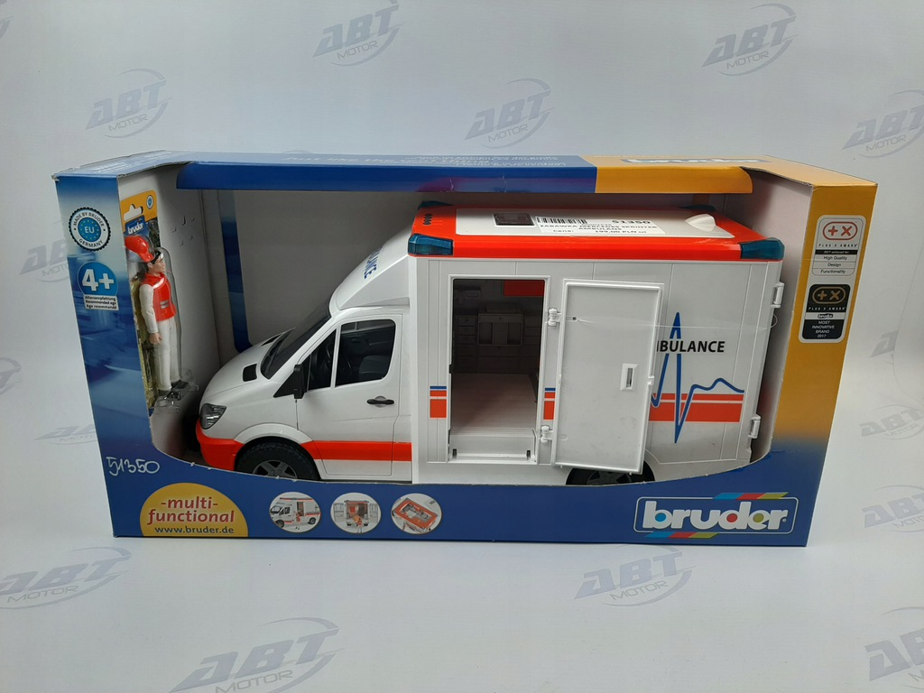 Zabawka MERCEDES SPRINTER AMBULANS z kierowcą