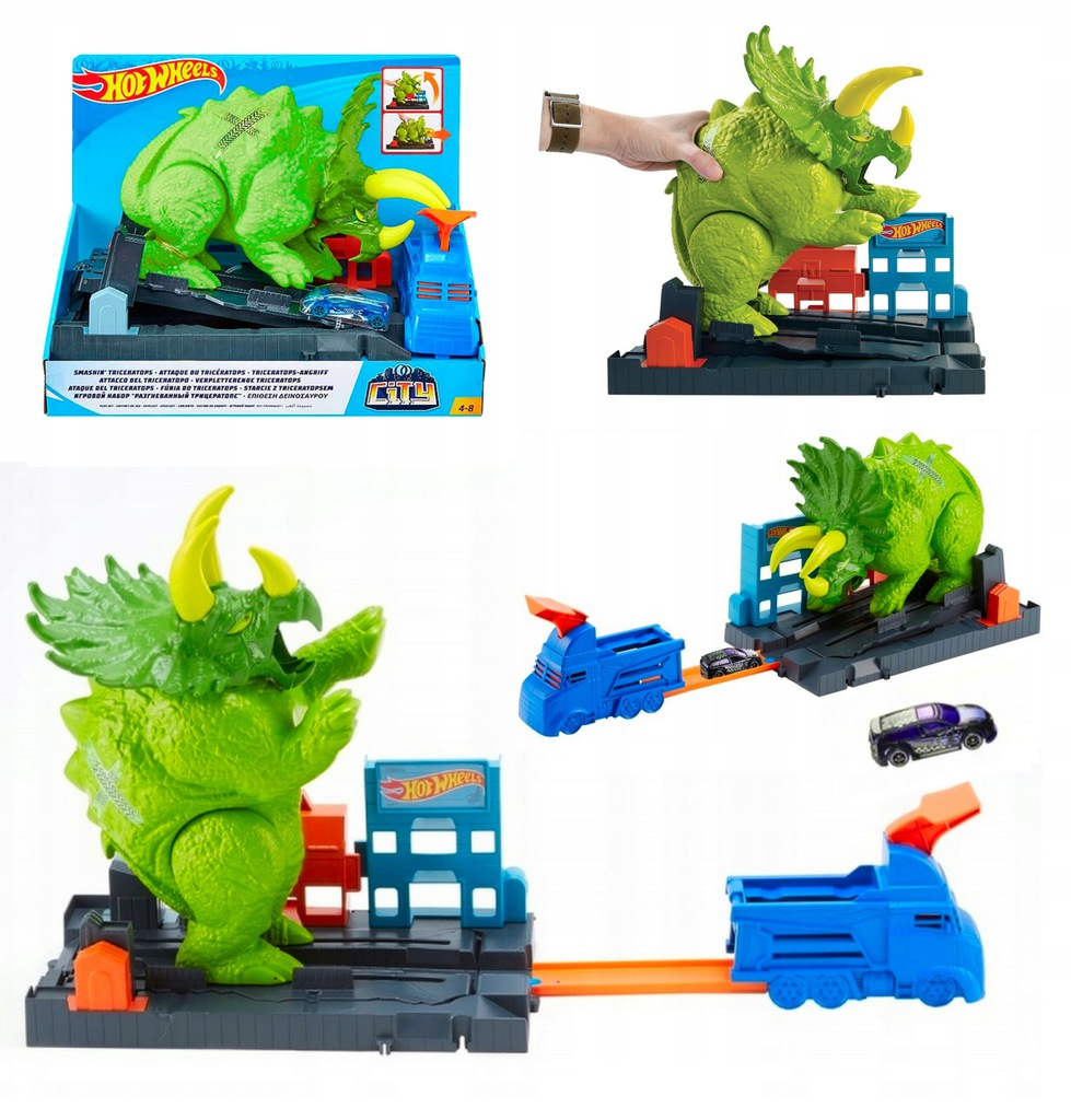 Hot Wheels Tor Starcie z Triceratopsem GBF97 Nowy*