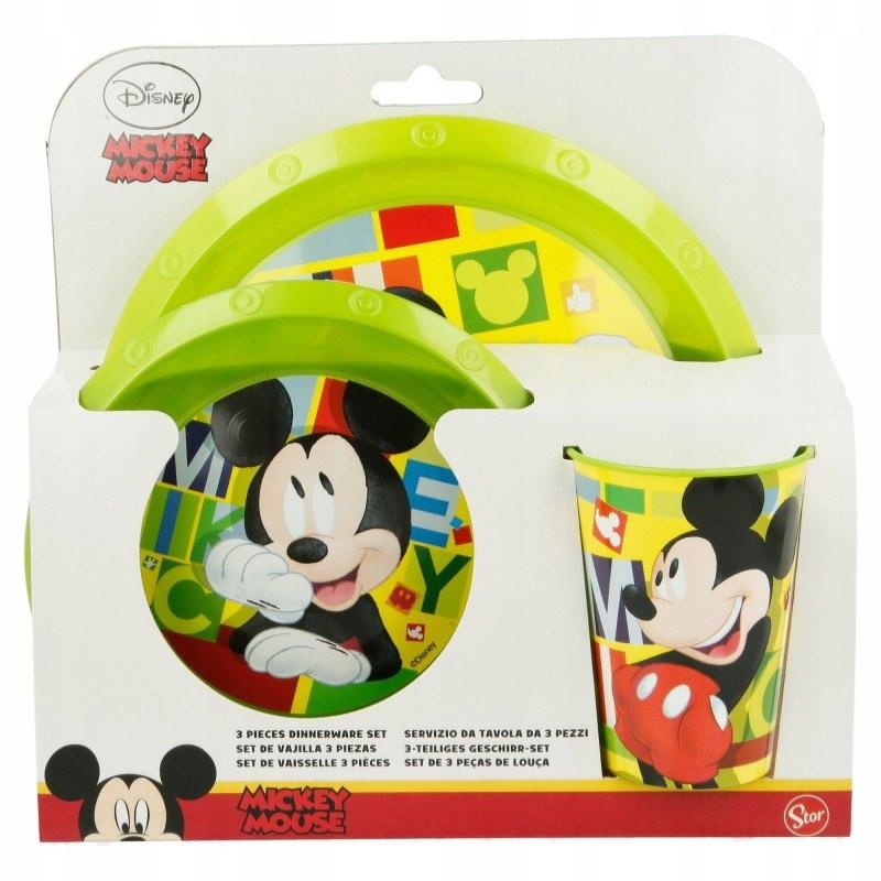 Mickey Mouse - Zestaw naczyń (talerz, miseczka i k