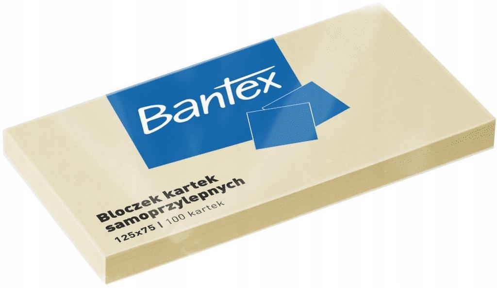Notes samoprzylepny 125 x 75 100k żółte, Bantex