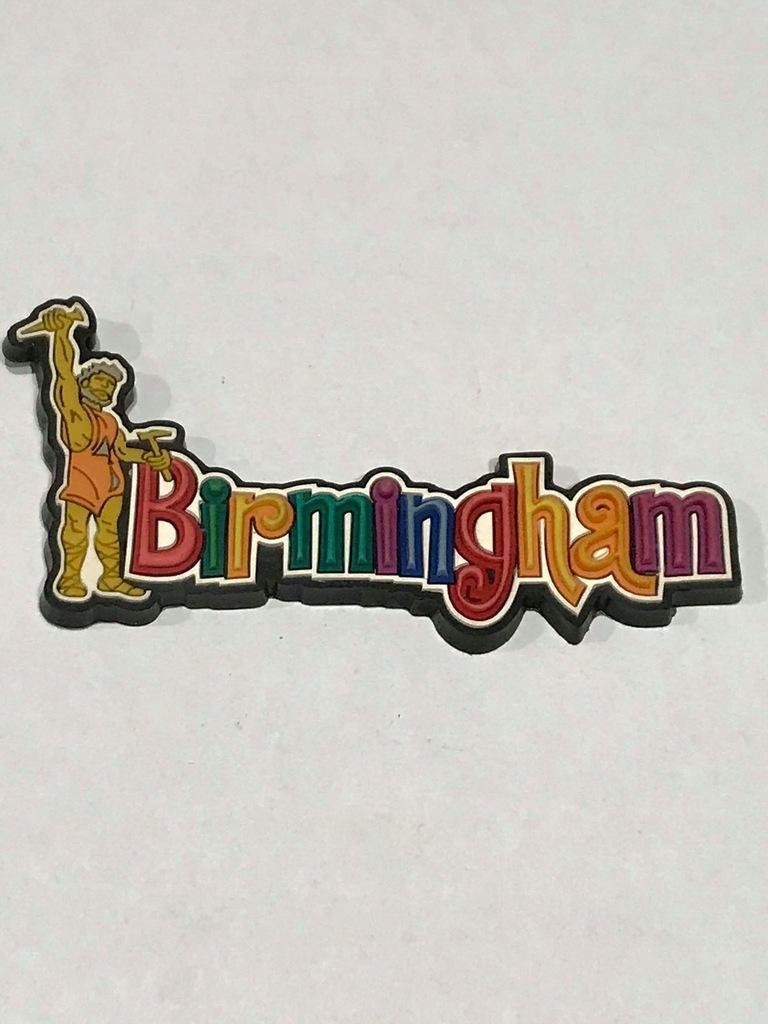 Magnes lodówkę magnez Anglia Birmingham gumowy cud
