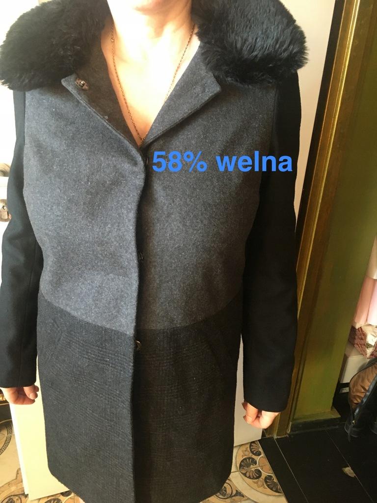 Next nowy plaszcz 58% welna 38/40/42 oversize BCM