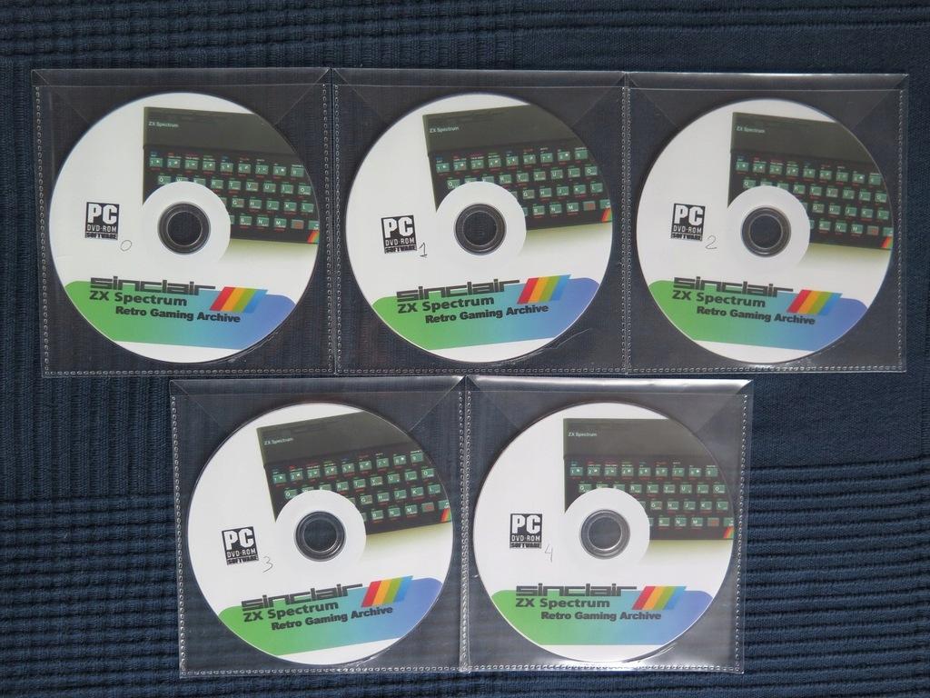 SINCLAIR 5 płyt DVD - emulatory + 108 tys. plików