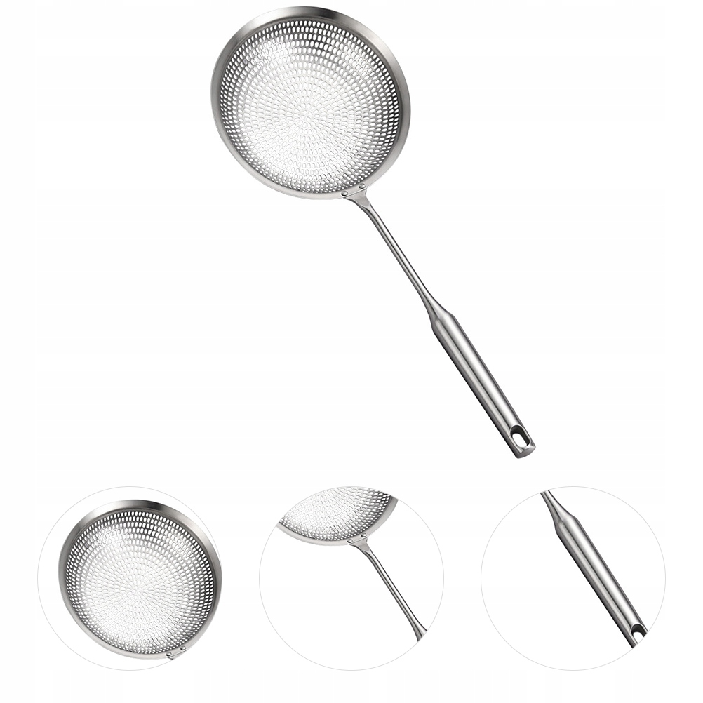 1pc Stainless Steel Colander Scoop Hot Pot Slotted