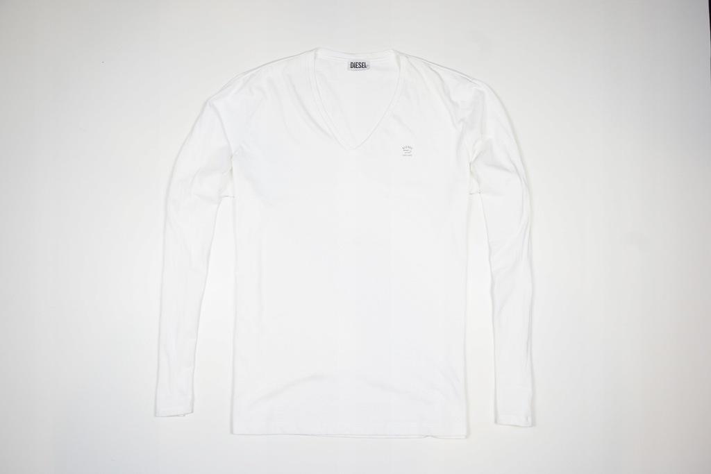 DIESEL LONGSLEEVE BIAŁY ITALY BRAND T-SHIRT WHITE