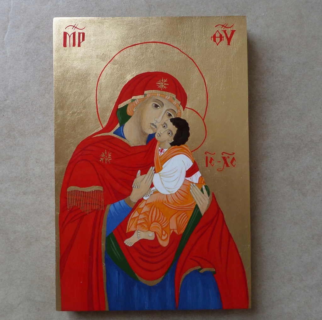 Matka Boska Łopieńska, ikona na desce