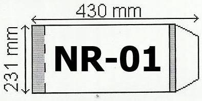 Okładka na podr B5 regulowana nr 1 (25szt) NARNIA