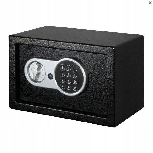Sejf kasetka elektroniczny dokumenty 31x20x20cm