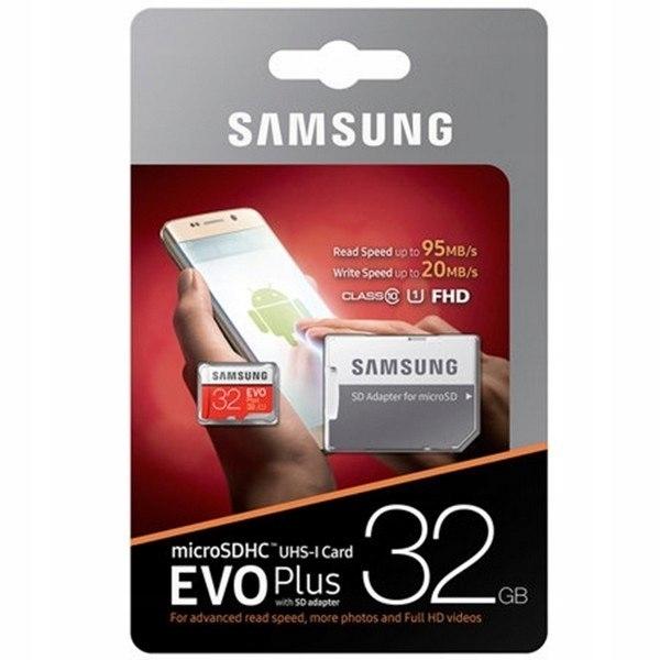 Karta pamięci Samsung EVO Plus 32GB microSD