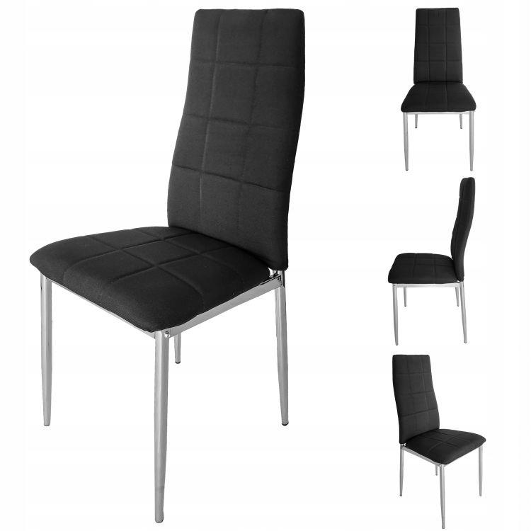 Zestaw 4 krzeseł do salonu Goodhome