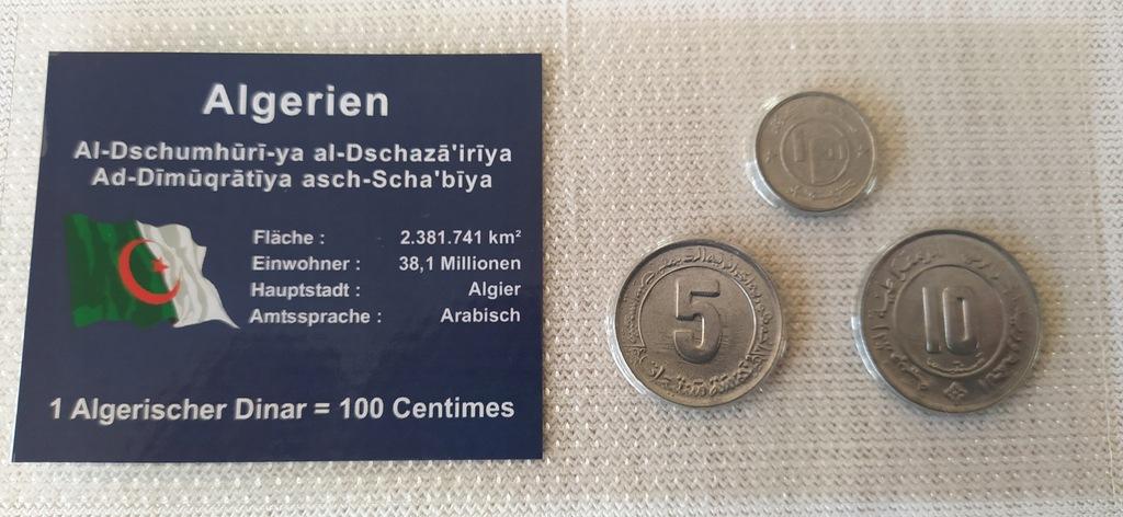 ZESTAW 3 monety w blistrze --ALGIERIA.