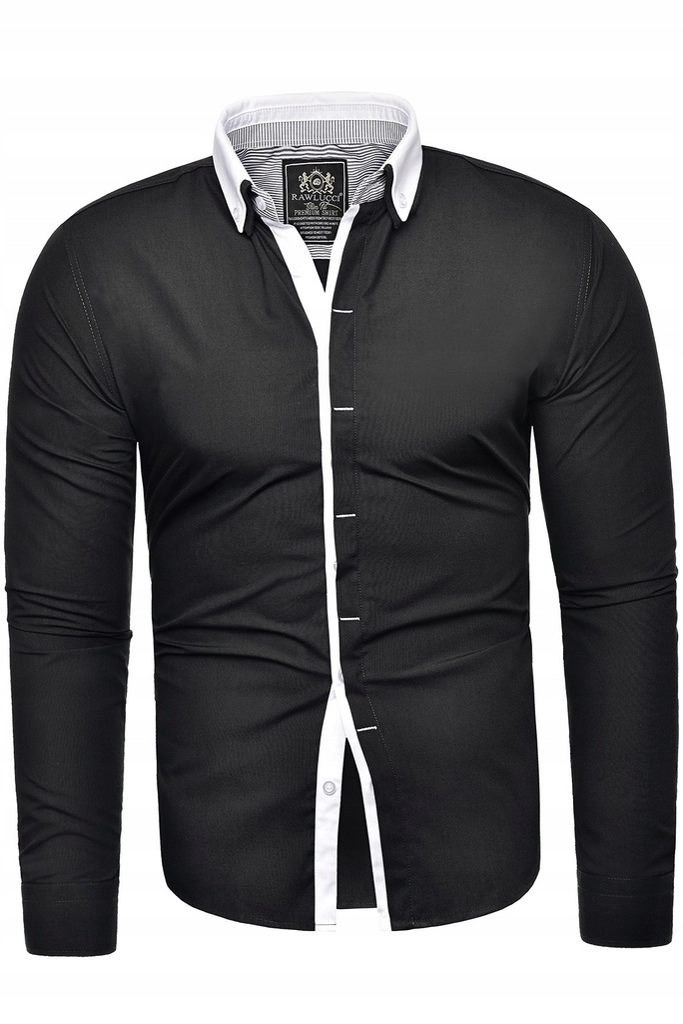 Koszula męska długi rękaw rl46 biała