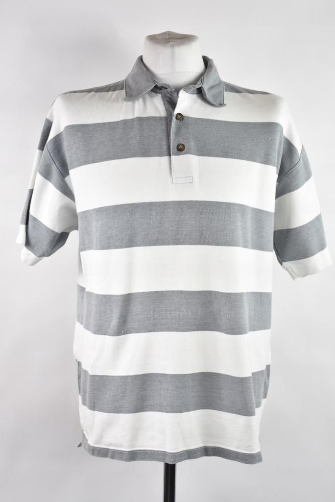 PACIFIC WAVES biało-szara koszula polo męska r.L