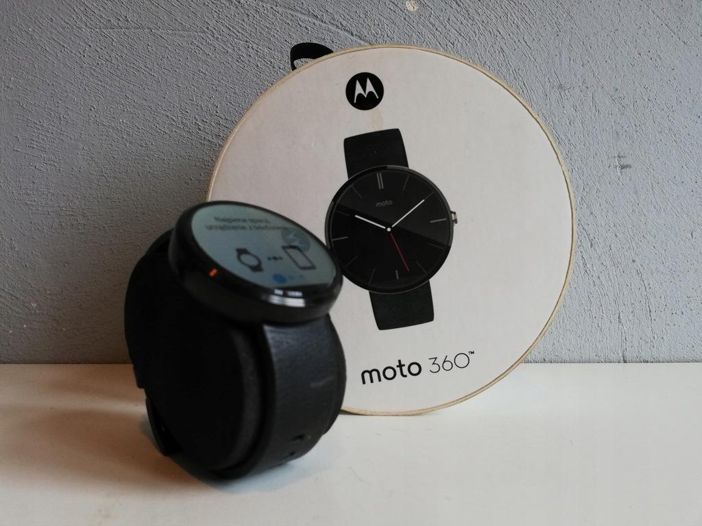 Zegarek Smart Motorola Moto 360 komplet