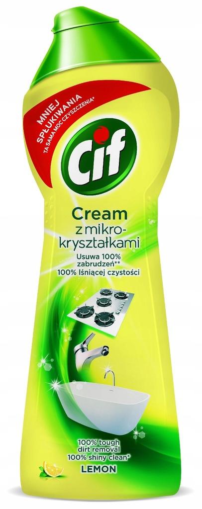 Cif Lemon Cream Mleczko do czyszczenia z mikrokrys