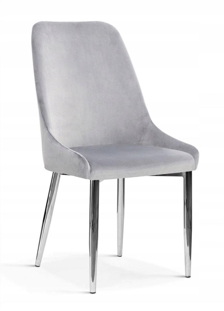 Krzesło OLIVIER M srebrny/ noga chrom/ BL03