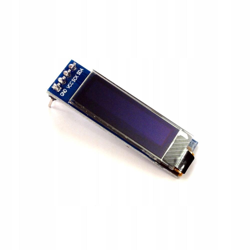 """Wyświetlacz OLED 128x32 0,91"""" biały SSD1306"""