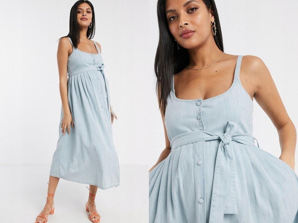DESIGN Maternity deninowa mid sukienka L/40