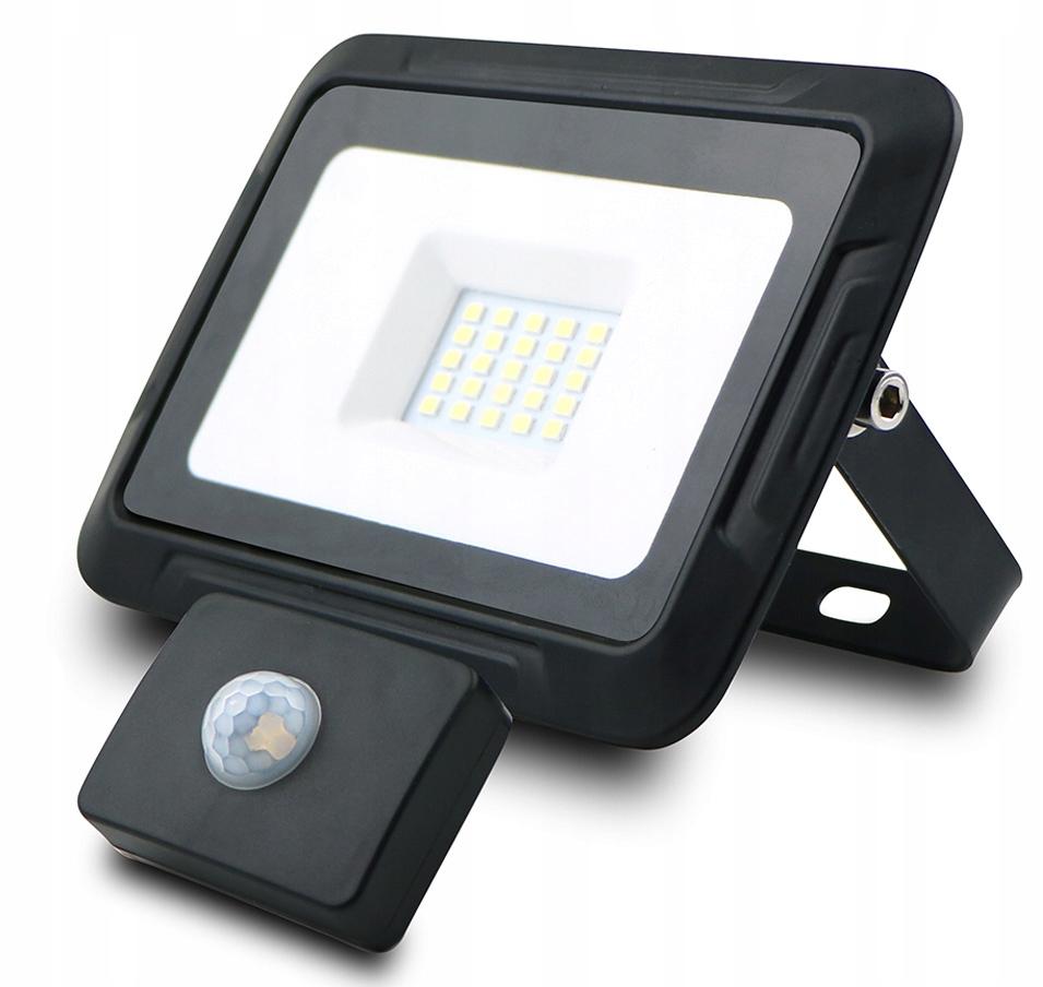 Naświetlacz LED SMD 20W 6000K PIR IP65 1600lm