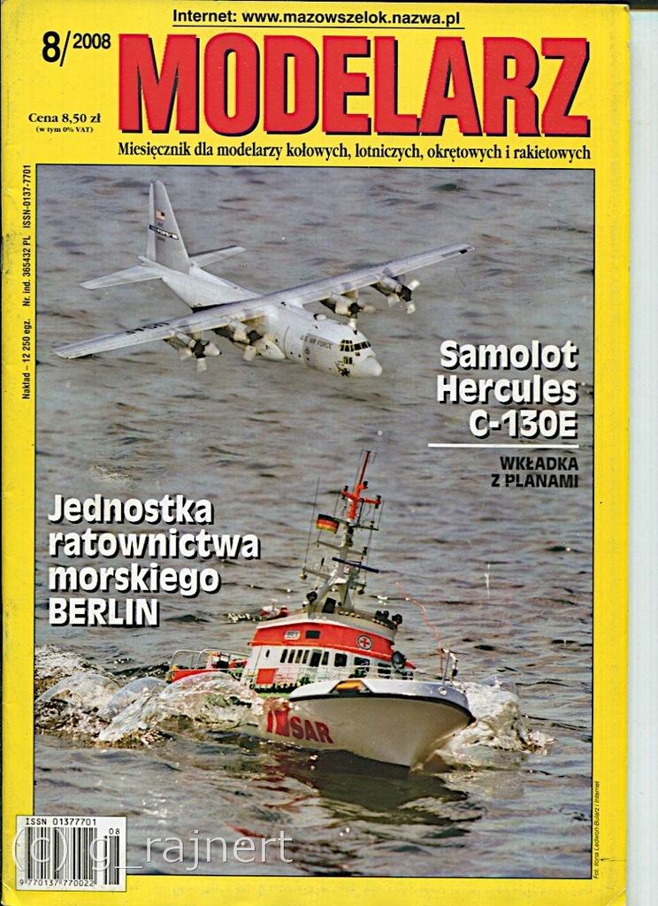 Modelarz 8/2008 Tirpitz, C-130E Hercules