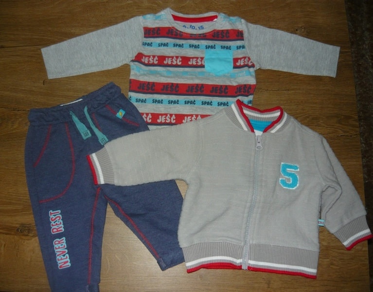 Komplet niemowlęcy 3 sztuki r. 62