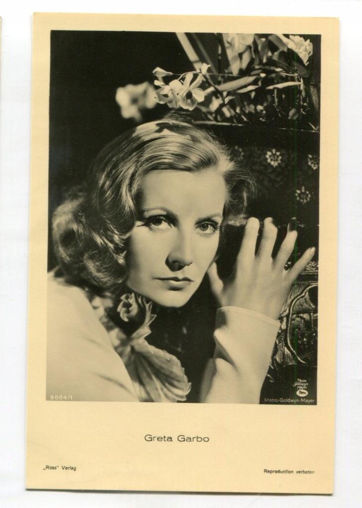 Greta Garbo Kino Film Aktorka Foto Pocztówka 27