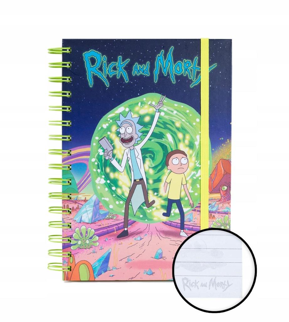 Rick i/and Morty Portal - notes A5 zeszyt 14,8x21
