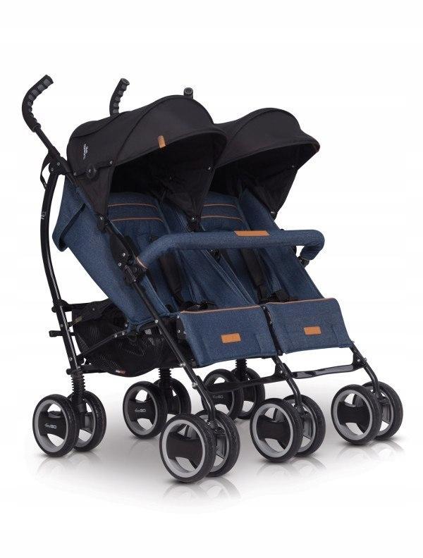 Wózek bliźniaczy Duo Comfort 2019 Denim