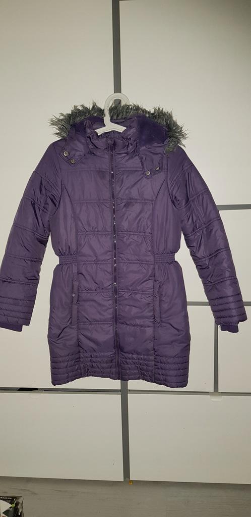 COOL CLUB fioletowy puchowy płaszczyk kurtka 146