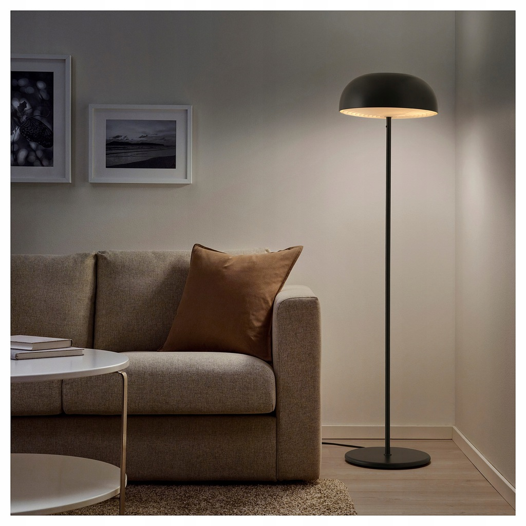 IKEA NYMANE Lampa podłogowa antracyt
