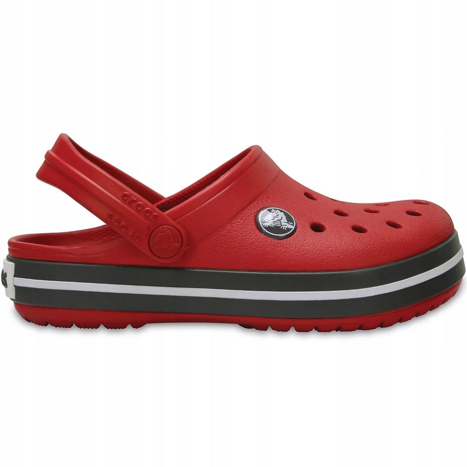 Crocs dla dzieci Crocband Clog K czerwono-szare 20