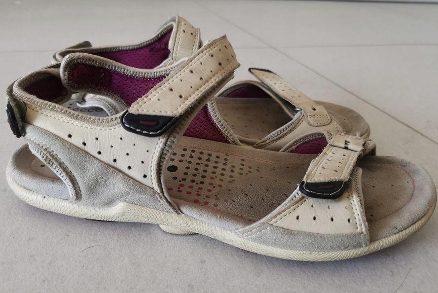 Buty damskie sandały na rzepy ECCO biom 40